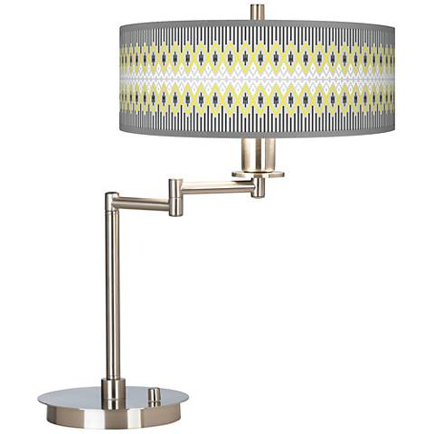 Desert Geometric Giclee CFL Swing Arm Desk Lamp