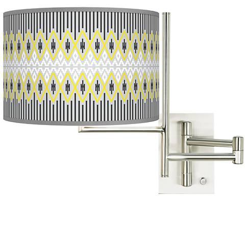 Tempo Desert Geometric Plug-in Swing Arm Wall Lamp