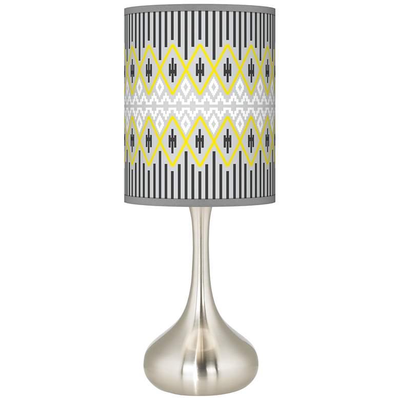 Desert Geometric Giclee Droplet Table Lamp