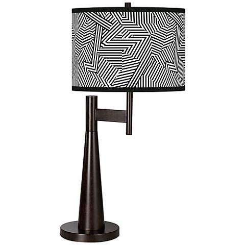 Labyrinth Giclee Novo Table Lamp