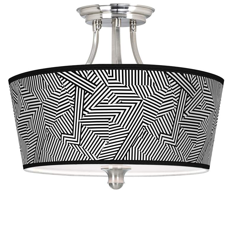 Labyrinth Tapered Drum Giclee Ceiling Light