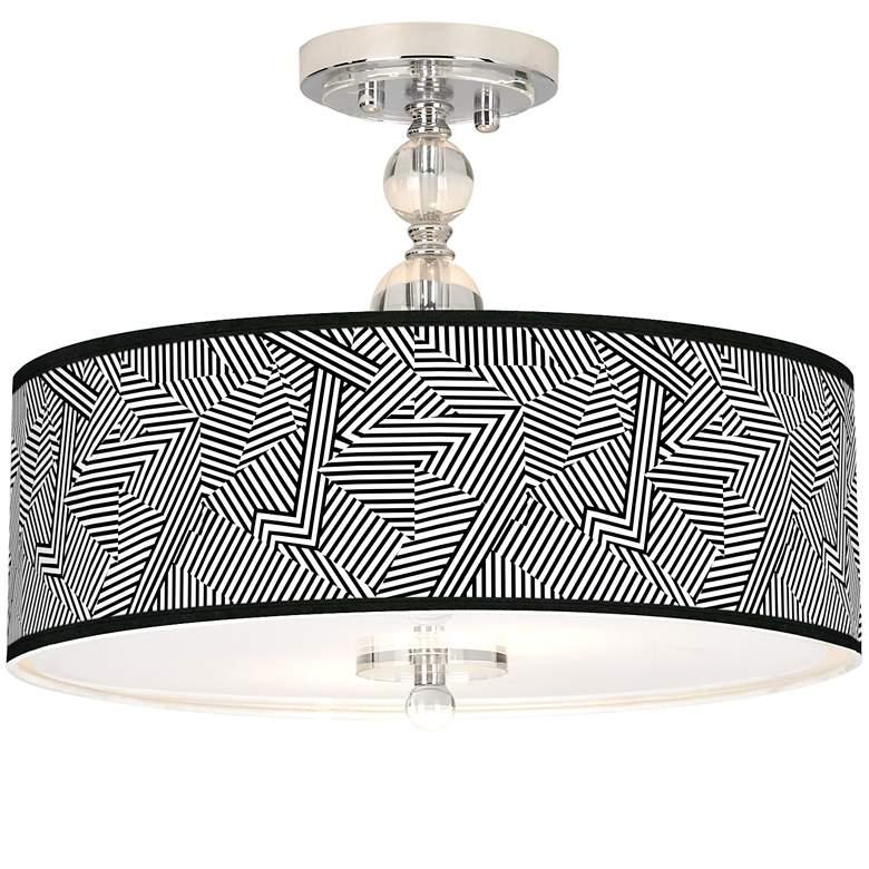 "Labyrinth Giclee 16"" Wide Semi-Flush Ceiling Light"