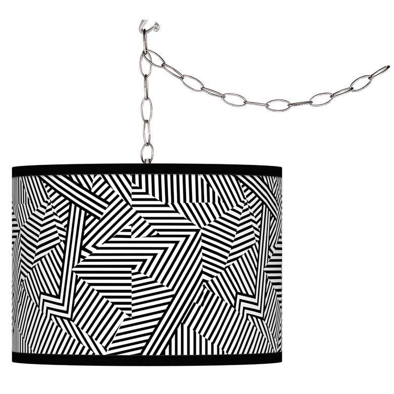 Labyrinth Giclee Glow Plug-In Swag Pendant