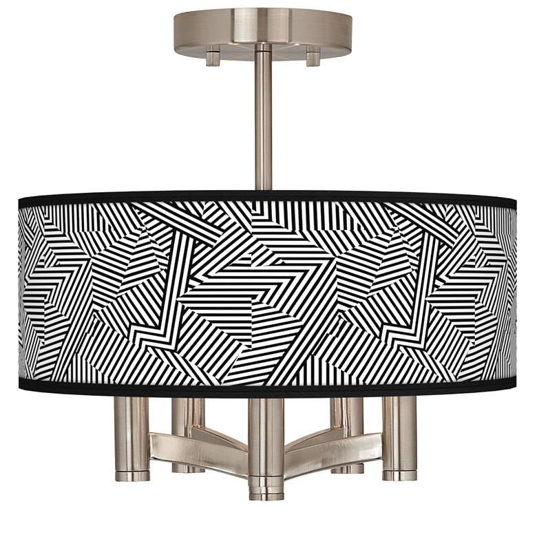 Labyrinth Ava 5-Light Nickel Ceiling Light