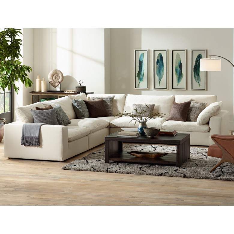 Skye Classic Natural Linen 5-Piece Modular Sectional