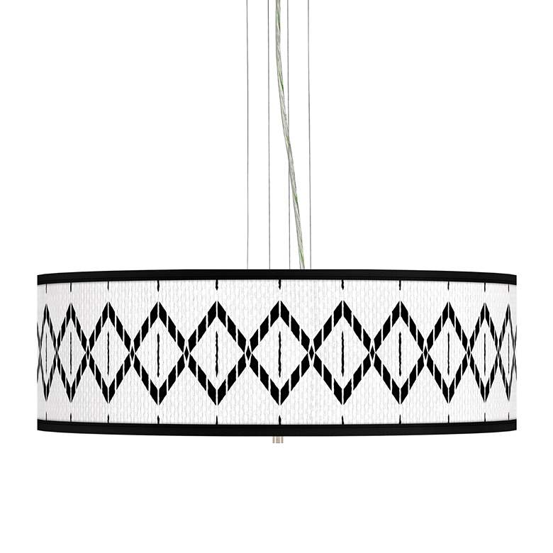 "Paved Desert Giclee 24"" Wide 4-Light Pendant Chandelier"