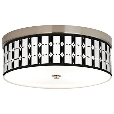 Tribal Weave Giclee Energy Efficient Ceiling Light