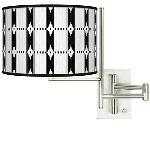 Tempo Tribal Weave Plug-in Swing Arm Wall Lamp