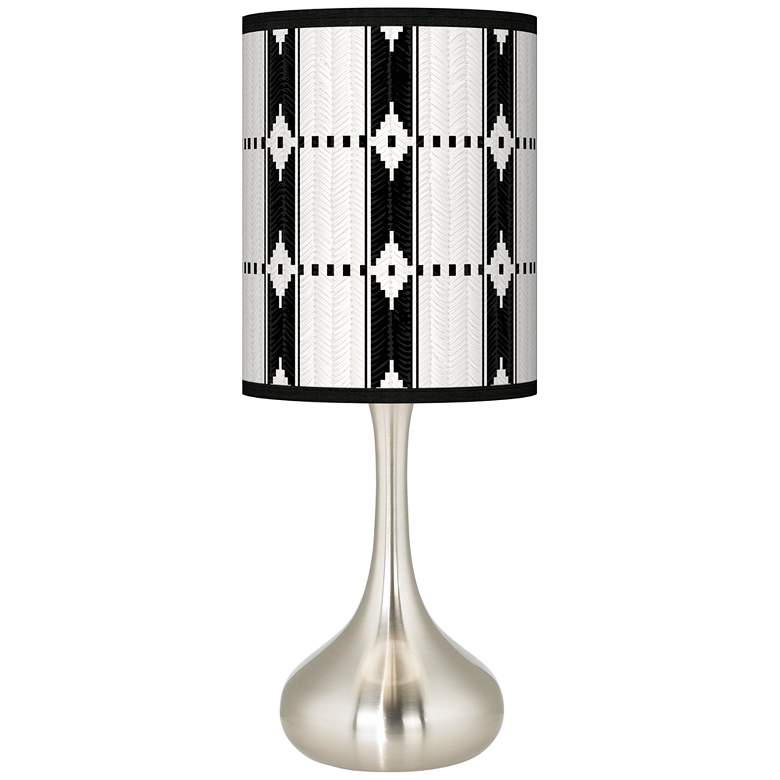 Tribal Weave Giclee Droplet Table Lamp