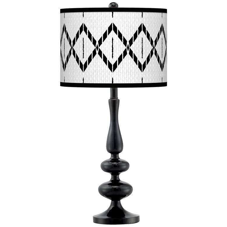 Paved Desert Giclee Paley Black Table Lamp