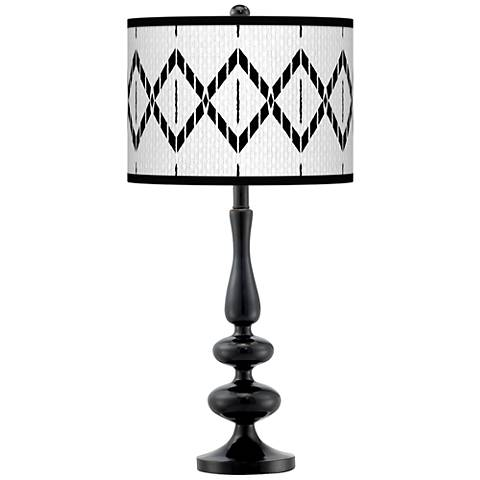 Paved Desert Giclee Paley Black Table Lamp