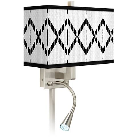Paved Desert Giclee Glow LED Reading Light Plug-In Sconce