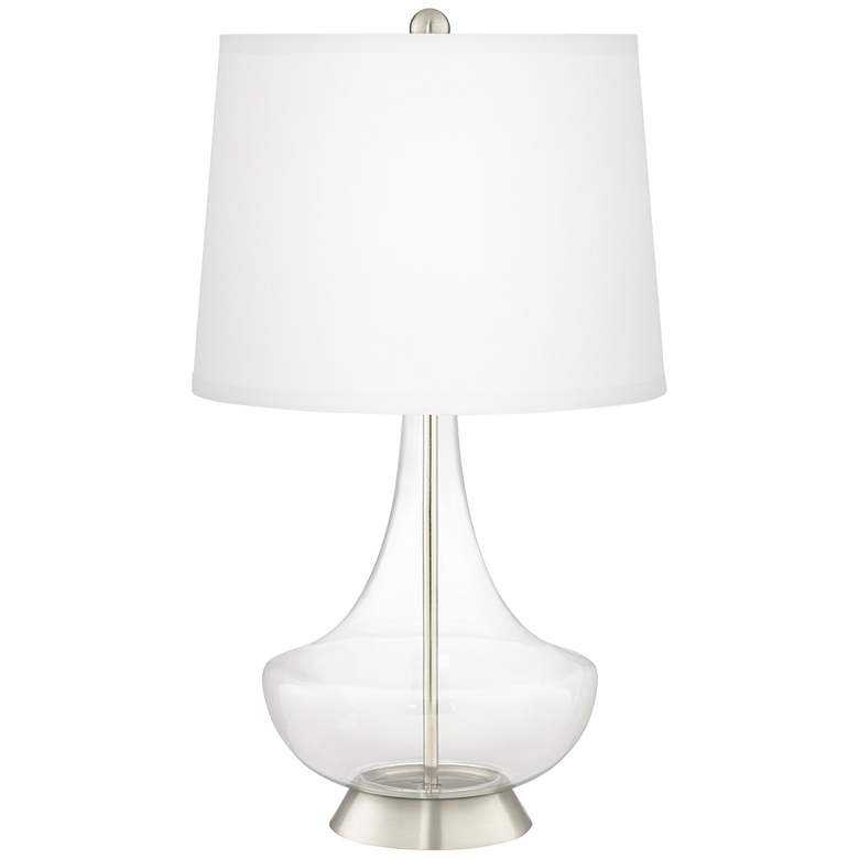 Clear Glass Fillable Gillan Table Lamp