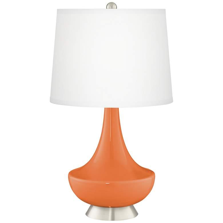 Celosia Orange Gillan Glass Table Lamp