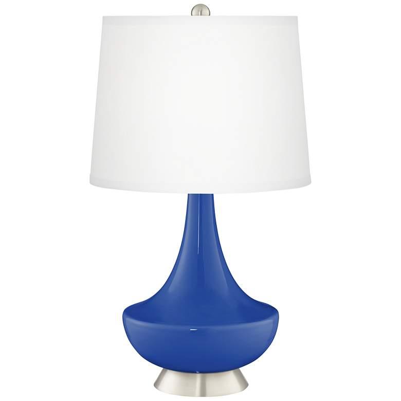 Dazzling Blue Gillan Glass Table Lamp
