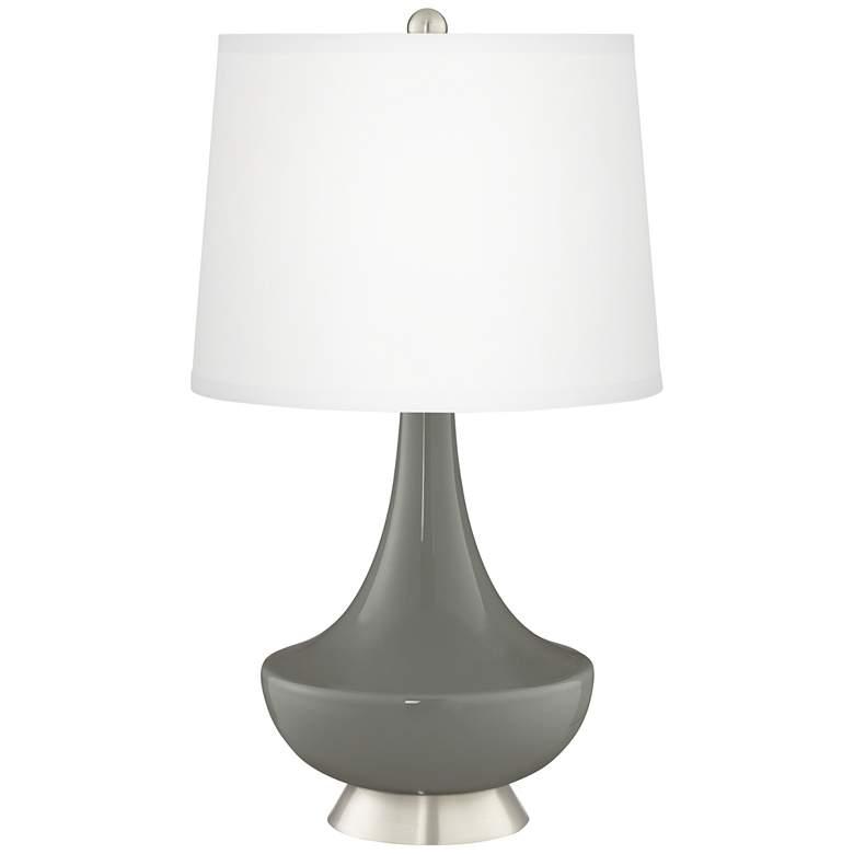 Gauntlet Gray Gillan Glass Table Lamp