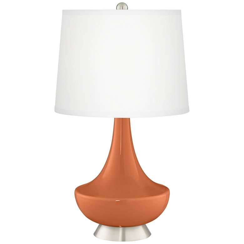Robust Orange Gillan Glass Table Lamp