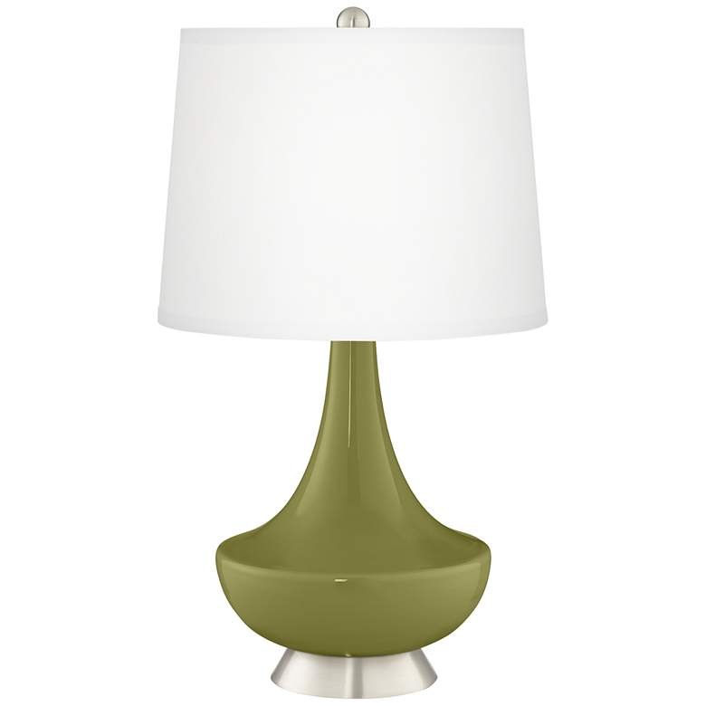 Rural Green Gillan Glass Table Lamp
