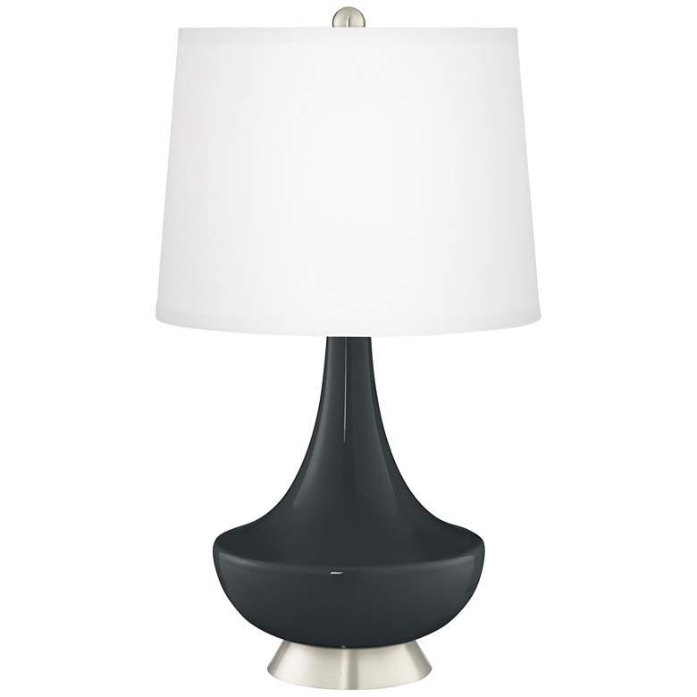 Black of Night Gillan Glass Table Lamp