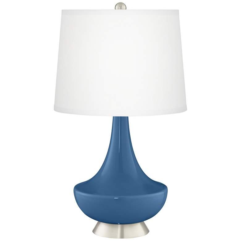Regatta Blue Gillan Glass Table Lamp