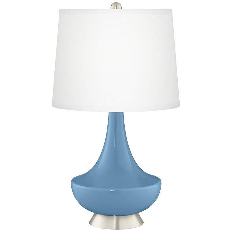 Secure Blue Gillan Glass Table Lamp