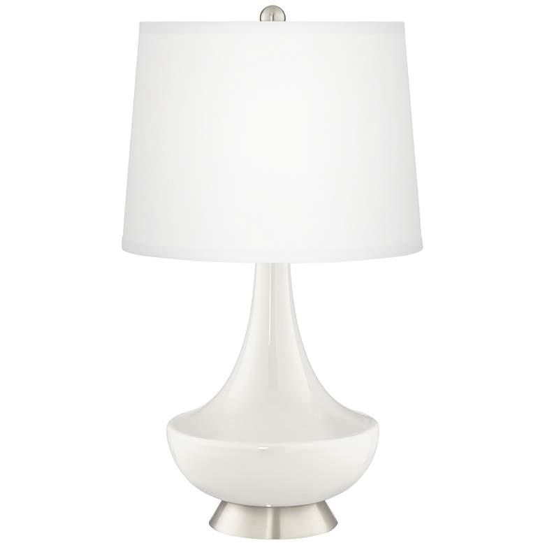 Winter White Gillan Glass Table Lamp