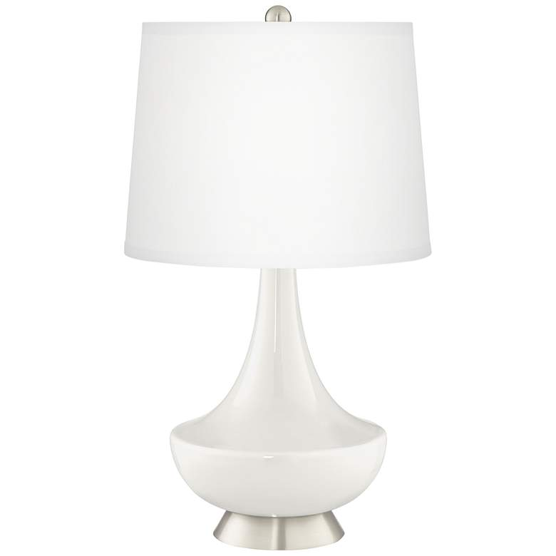 Winter White Gillan Glass Table Lamp