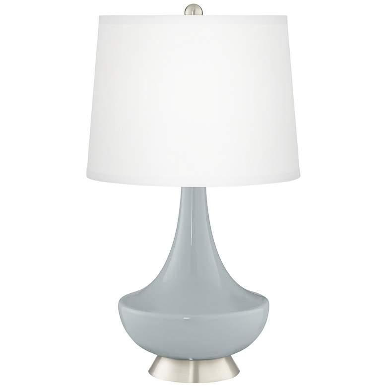 Uncertain Gray Gillan Glass Table Lamp