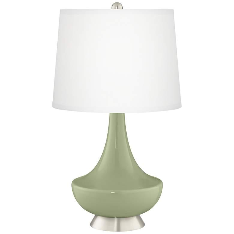 Majolica Green Gillan Glass Table Lamp