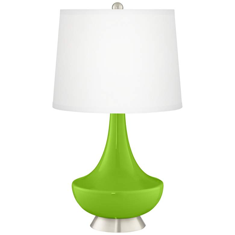 Neon Green Gillan Glass Table Lamp