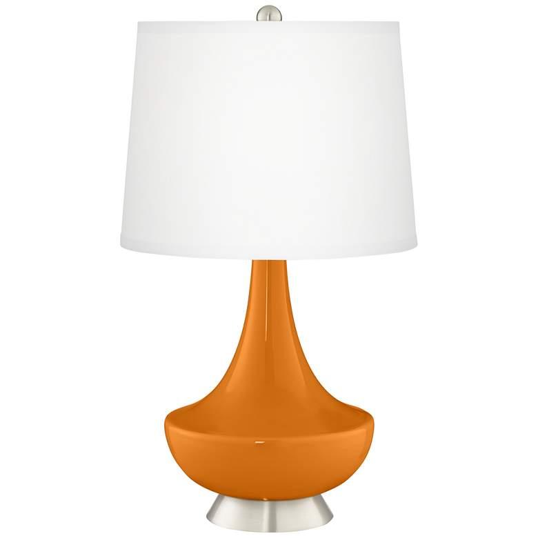 Cinnamon Spice Gillan Glass Table Lamp
