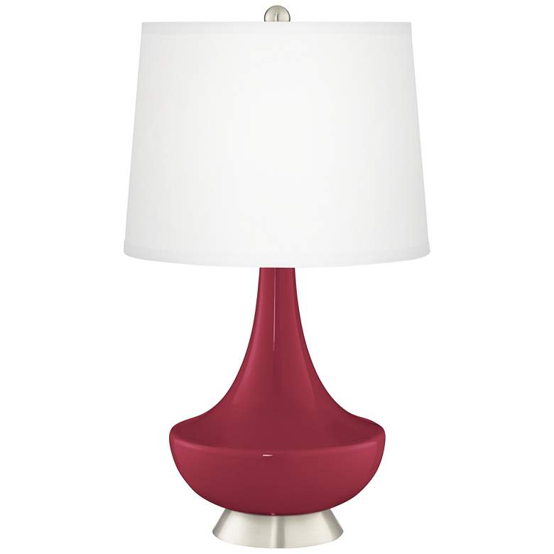 Antique Red Gillan Glass Table Lamp