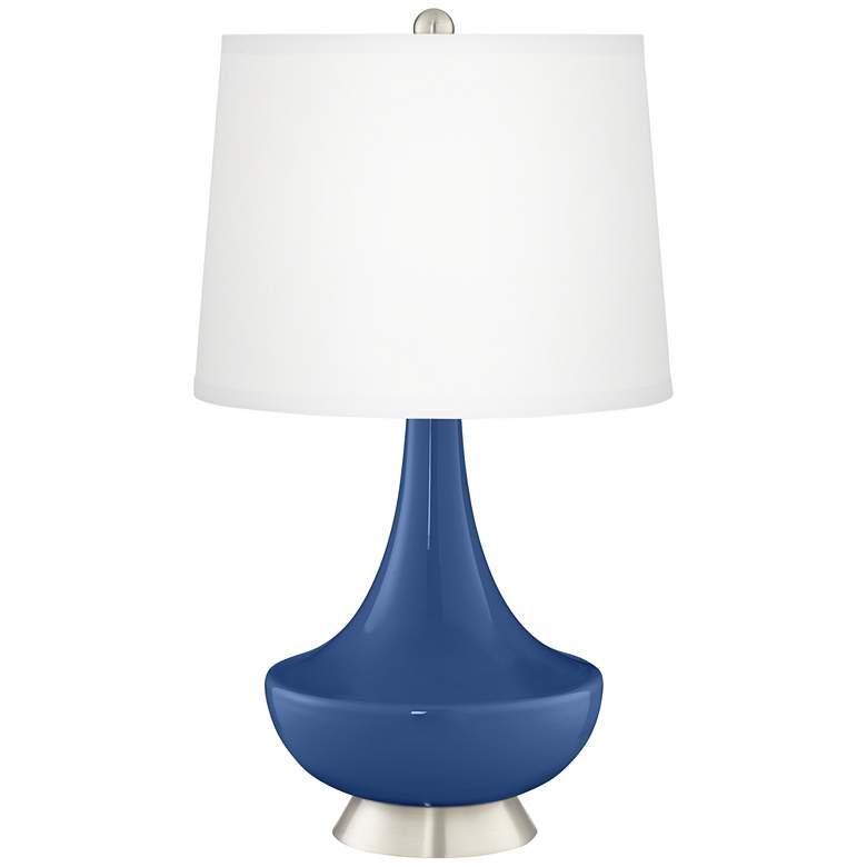 Monaco Blue Gillan Glass Table Lamp