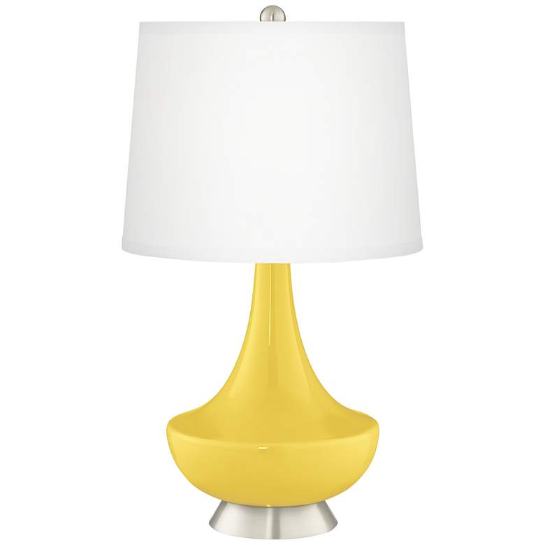 Lemon Zest Gillan Glass Table Lamp