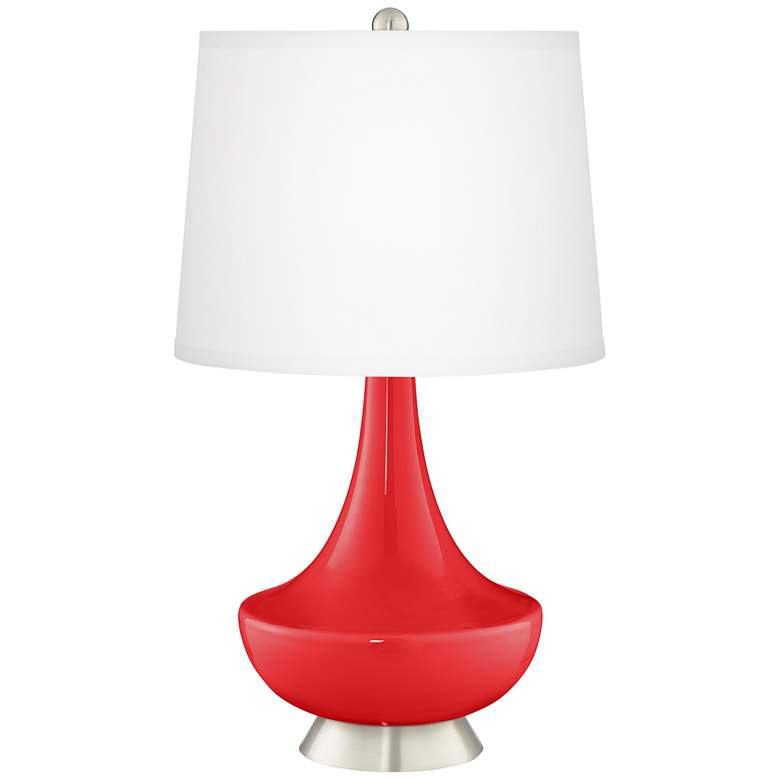 Poppy Red Gillan Glass Table Lamp