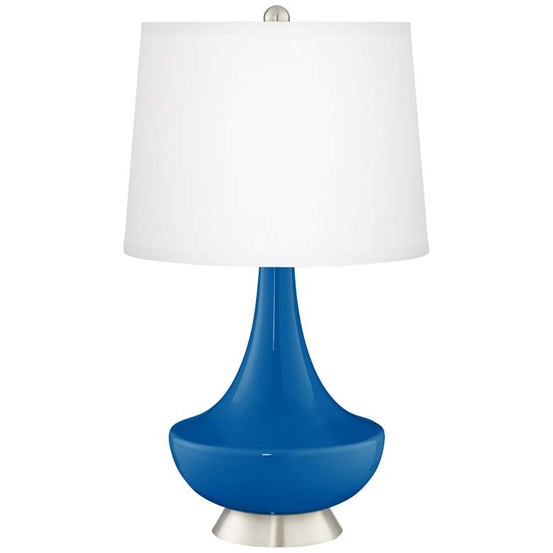 Hyper Blue Gillan Modern Table Lamp by Color Plus