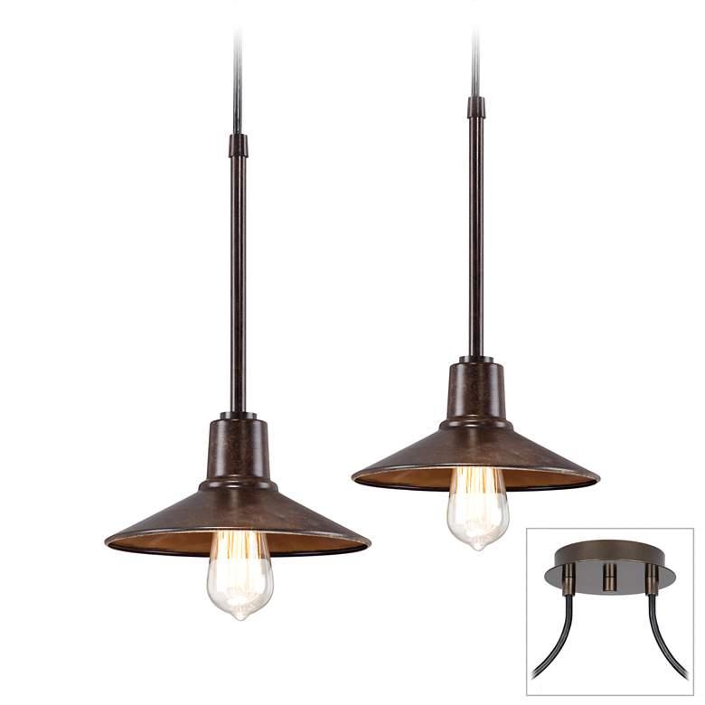 Edison Industrial Bronze 2-Light Swag Pendant