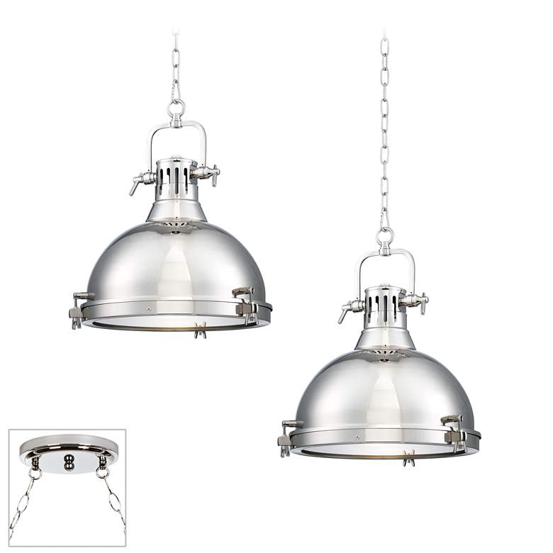 Possini Euro Arlo Chrome 2-Light Swag Chandelier