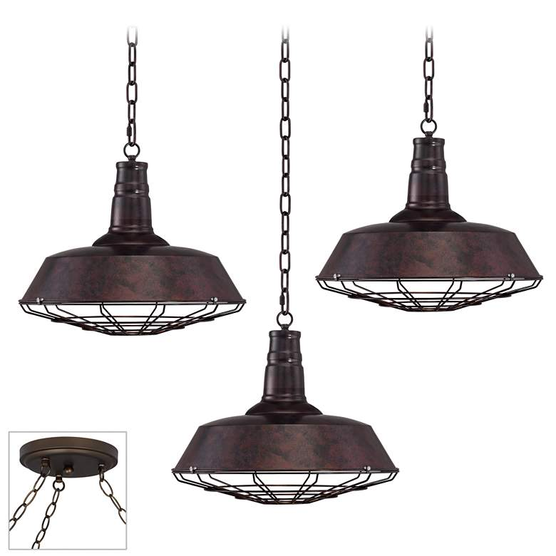 Tiedra Bronze 3-Light Swag Chandelier