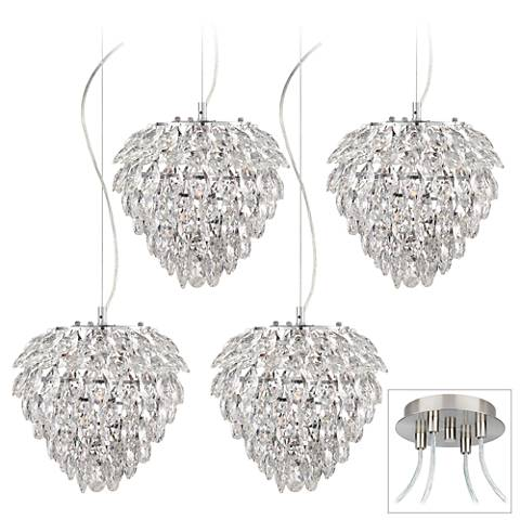 Possini Euro Isabela Brushed Nickel 4-Light Swag Pendant