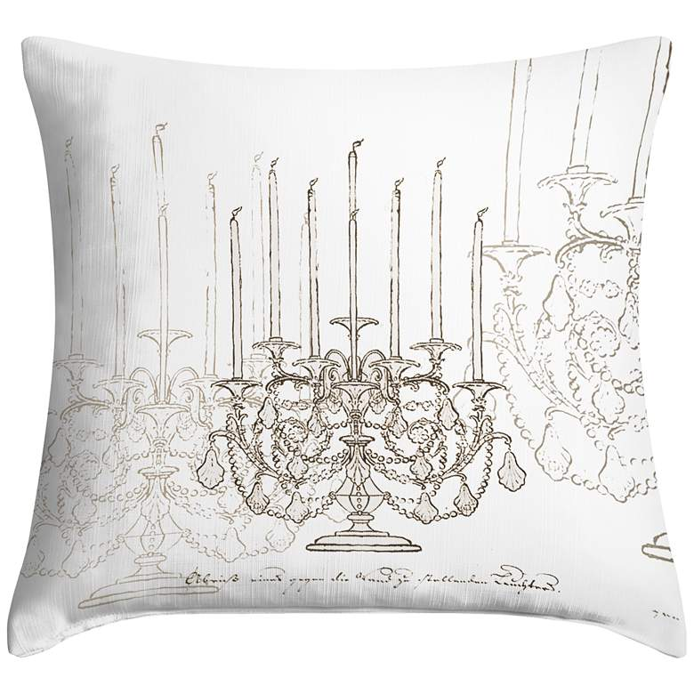 "Candelabra 18"" Square Throw Pillow"