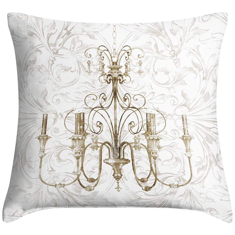 """Chandelier II 18"""" Square Throw Pillow"""