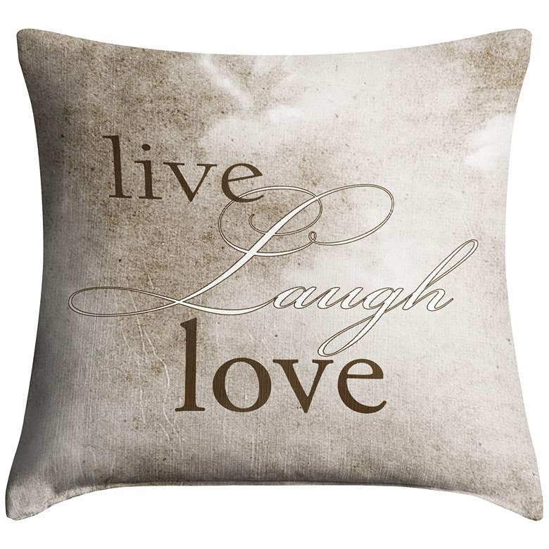 "Live Laugh Love 18"" Square Throw Pillow"