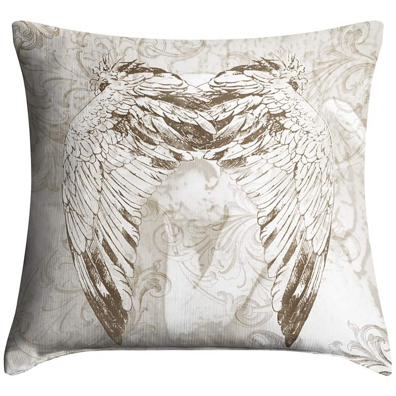 """Wings 18"""" Square Throw Pillow"""