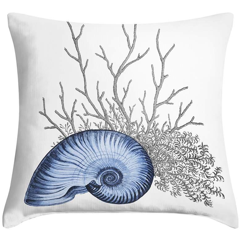 """Blue Nautilus 18"""" Square Throw Pillow"""