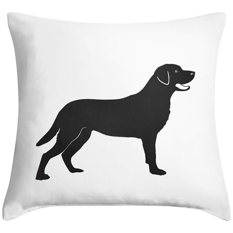 """Labrador 18"""" Square Throw Pillow"""