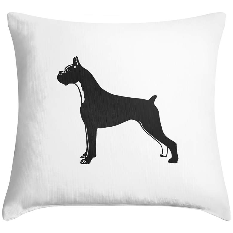 "Bulldog 18"" Square Throw Pillow"