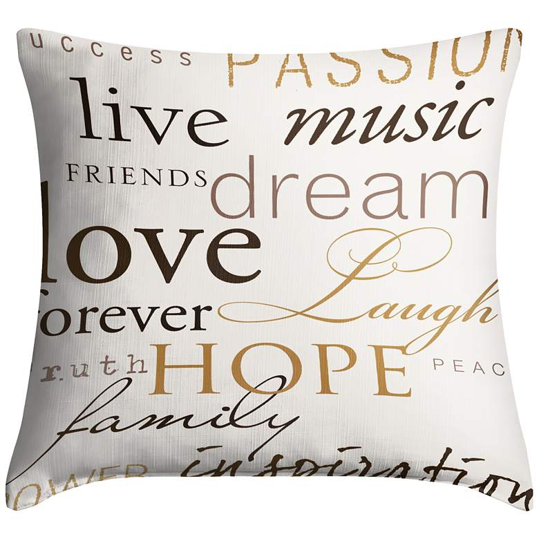 "Positivity 18"" Square Throw Pillow"