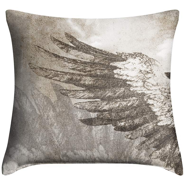 """Wings Left 18"""" Square Throw Pillow"""