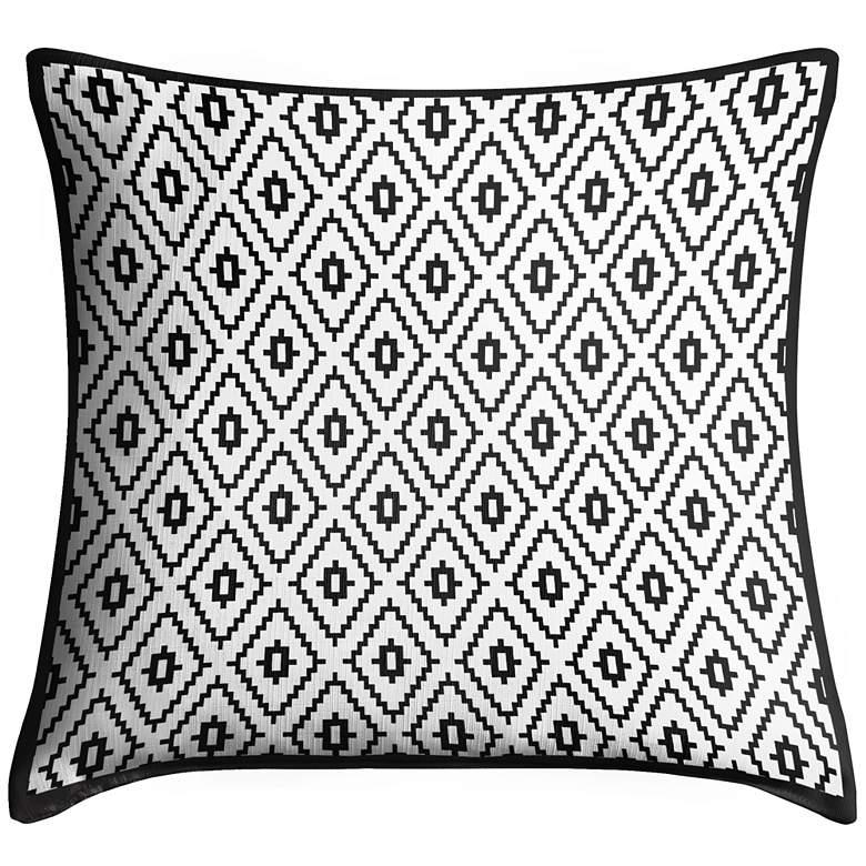 "Black Diamonds 18"" Square Throw Pillow"